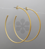 Matte Square Hoop Earrings