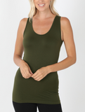 Seamless Scoop Neck Support Tank