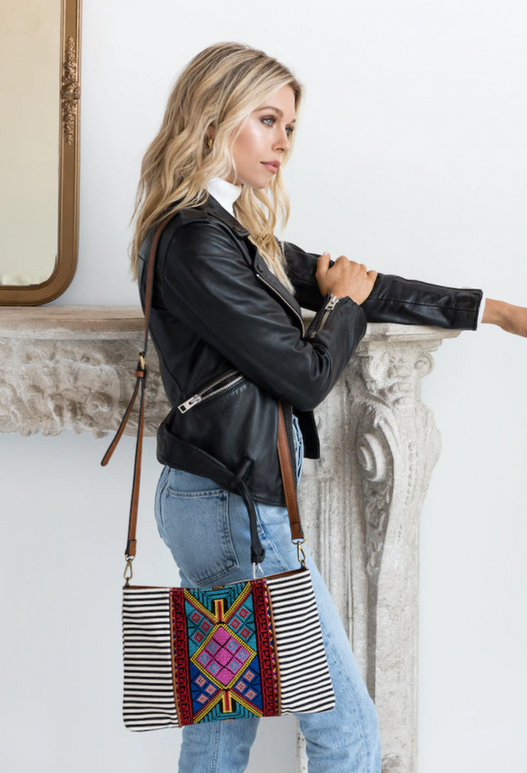 Felicity Aztec Embroidered Bag