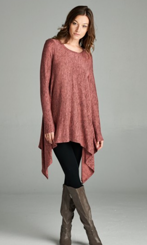 Blush Swing Tunic Top