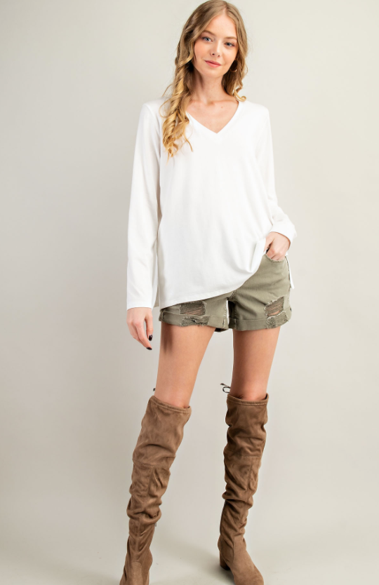 The Hailey Cotton Modal Top