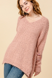 Cozy Relaxed V-Neck Sweater