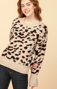 The Sophia Leopard Crew Neck Sweater