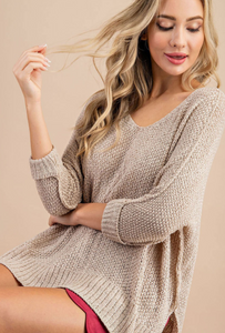 Quinn Crew Knit Cable Sweater