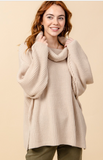 The Bailey Knit Loose Turtleneck Sweater