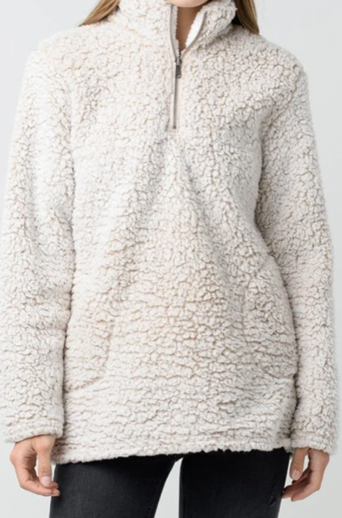 Oh My Oatmeal Sherpa Pull Over