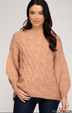SALE Katie Cable Knit Pull Over Sweater