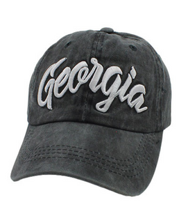 Georgia Charcoal Baseball Style Hat