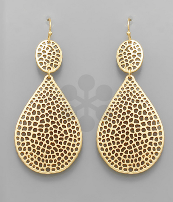 Aussie Gold Teardrop Earrings