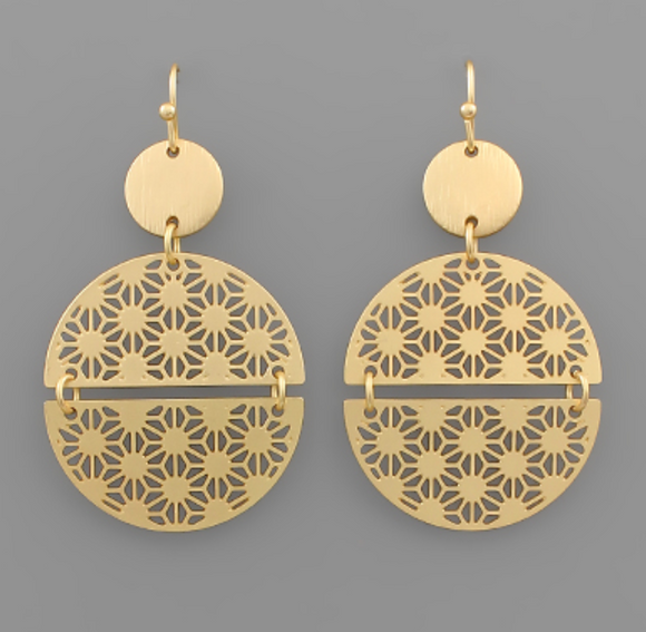 Detached Filigree Circle Earrings