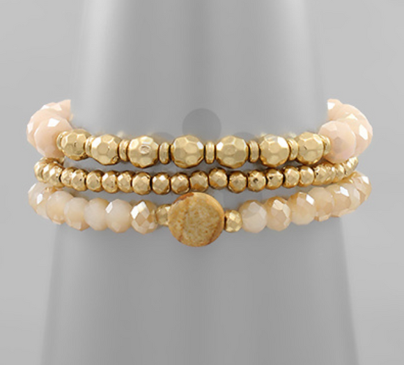 Peachy Nude Bracelet Set