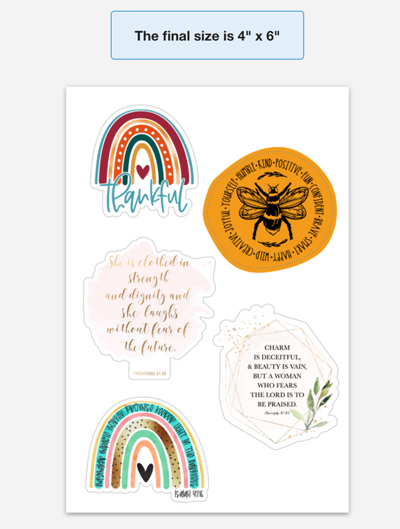 Inspirational Sticker Sheet