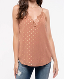 Gold Dotted Lace Cami