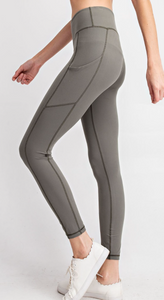 Grey Sage Buttery Leggings with Pockets