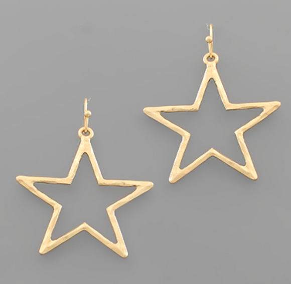 Hammered Star Earrings