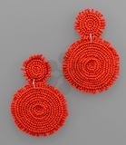 Large Beaded Disc Earrings