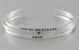 You're My Person Bracelet Cuff Set