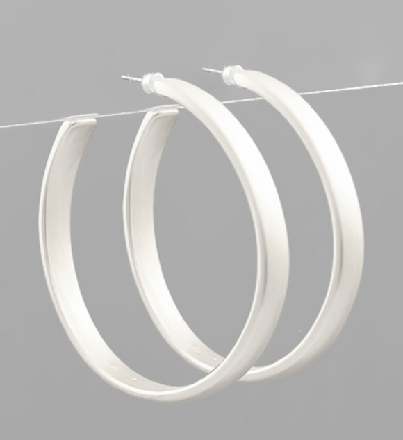 Kessler Flat Matte Hoop Earrings
