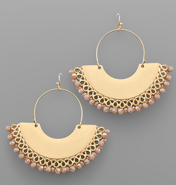 Gold Coast Beaded Earrings