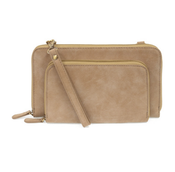 Brushed Mini Convertible Zip Around Bag