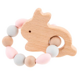 Silicone & Wooden Baby Teether