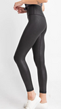 Rae Faux Leather Black Leggings
