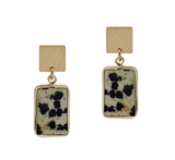 Rectangle Natural Stone Earrings