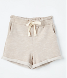 Girls Heathered Rolled Leg Knit Shorts