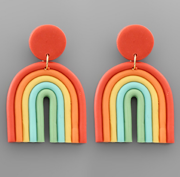 Clay Rainbow Earrings