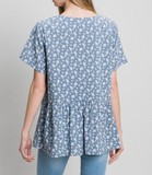 Lucy Floral Ruffle Top