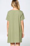 Olive Branch Pocket Dress