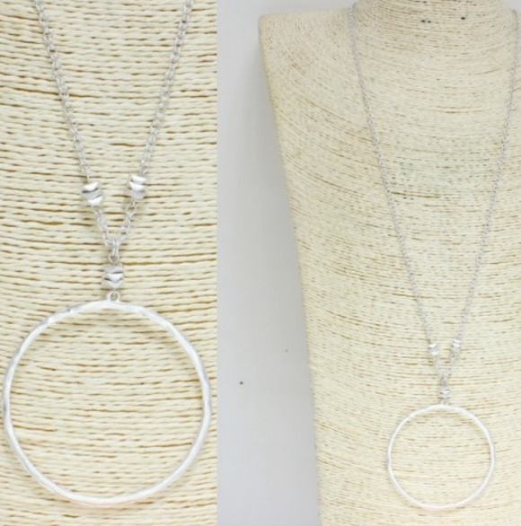Fancy Large Circle Necklace