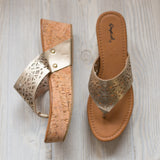 Gold Wedges - Shoppe3130