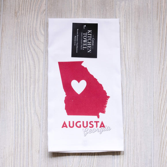 Augusta Heart Tea Towel