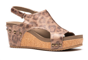 Carley Distressed Leopard Wedge - Shoppe3130