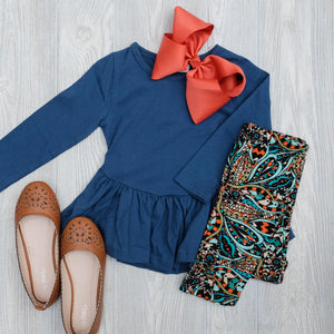 Kids Navy Puplum Shirt - Shoppe3130