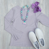 Girls Lavender Shirt - Shoppe3130