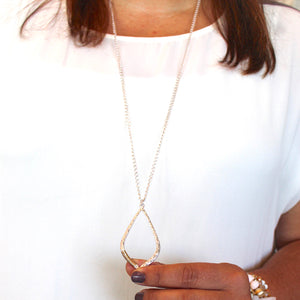 Silver and Gold Wrapped Necklace