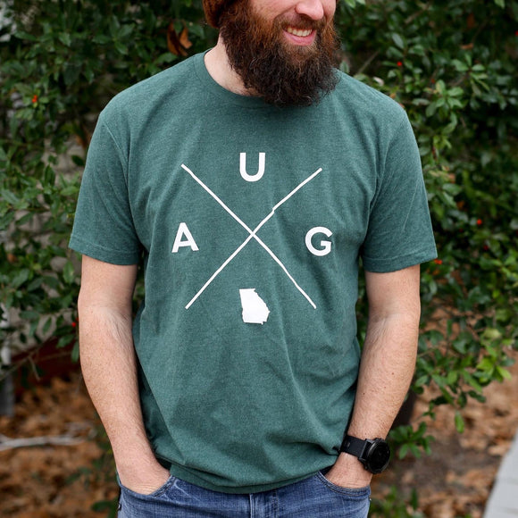 Augusta Georgia X Tee in Forrest Green