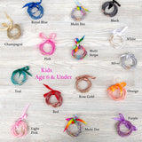 Kids Glitter Silicone Bangle Bracelet Set