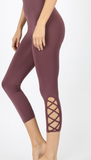 Lattice Hem HW Leggings - Shoppe3130