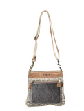Myra HIDE & FLORAL PRINT SMALL & CROSS BODY BAG - Shoppe3130