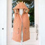 Camel Fleece Lined Vest