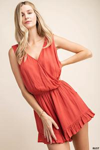 Summer Rust Romper - Shoppe3130