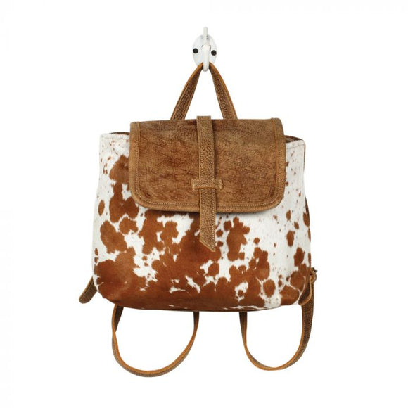 Leather Flap Backpack Myra Hair On Bag