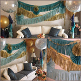 Assembled Tissue Tassel Garland Sets