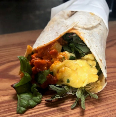 Take away breakfast wrap