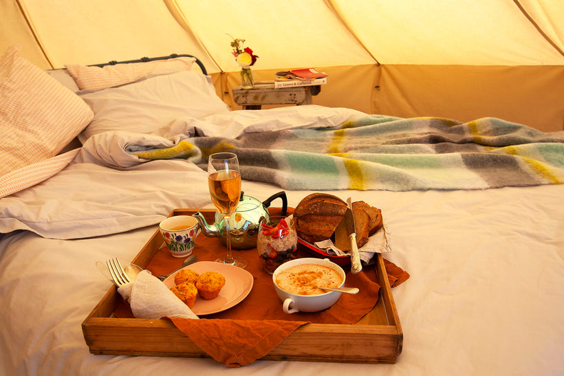 Breakfast delivered to your Bell tent