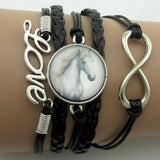 Love Horse Infinity Bracelets Leather