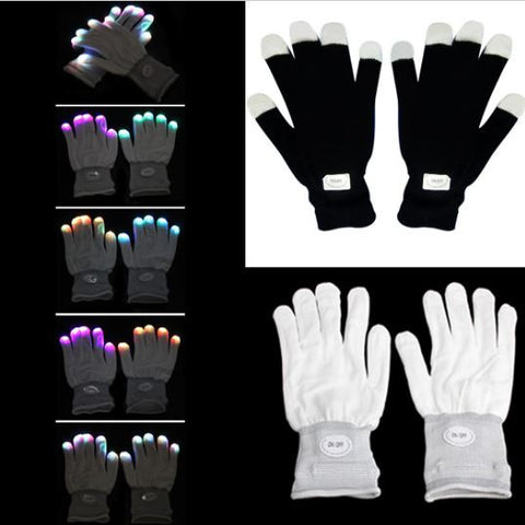 Multi-Color LED Gloves